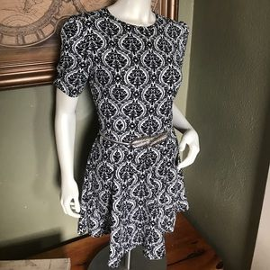 Art Deco Floral Fitted Dress